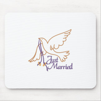 Just Married Rings Mouse Pad