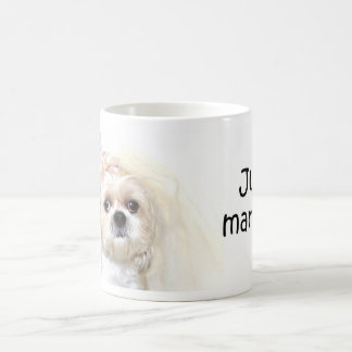 Just married Shih Tzu bride Basic White Mug