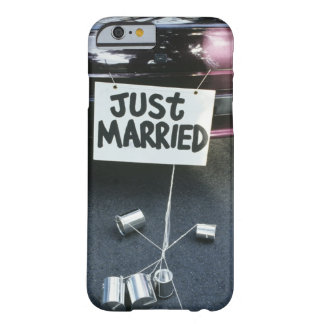 Just Married sign on back of car Barely There iPhone 6 Case