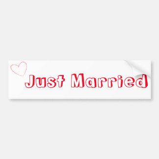 Just Married Simple Bumper Sticker
