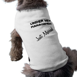 Just Married Sleeveless Dog Shirt