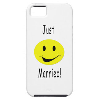 Just Married Smiley Tough iPhone 5 Case