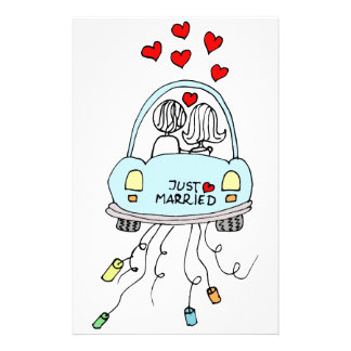 Just Married Stationery Design