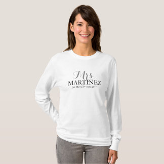 Just Married T-Shirt for couples