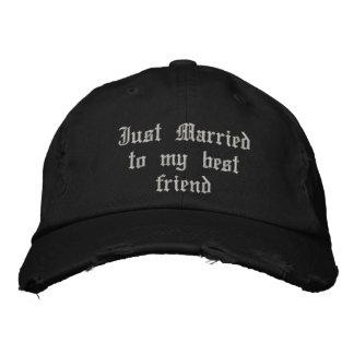 Just Married to my best friend gothic wedding hat