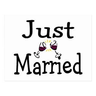 Just Married Toast Postcard