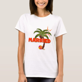 Just MARRIED Tropical  T-Shirt