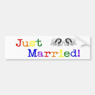 Just Married (two women) Bumper Sticker