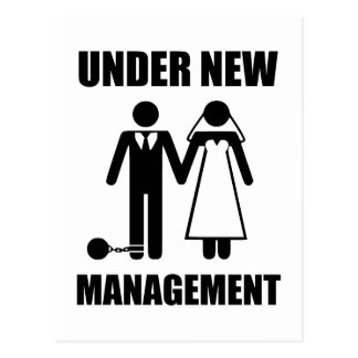 Just Married, Under New Management Postcard