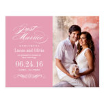 Just Married Wedding Announcements | Rose Pink Post Cards