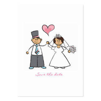 Just Married! Wedding Couple Mini Save-the-Date Pack Of Chubby Business Cards