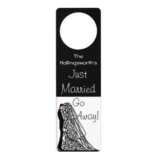 Just Married Wedding Gift Door Knob Hanger