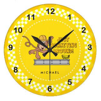 Just Monkey Around Large Clock