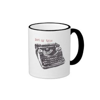 """just my type"" ringer mug"