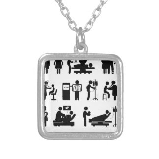 Just Nurse Things Silver Plated Necklace