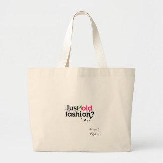 just old fashion jumbo tote bag