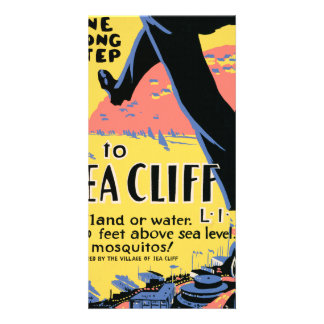 Just one long step to Sea Cliff Personalized Photo Card