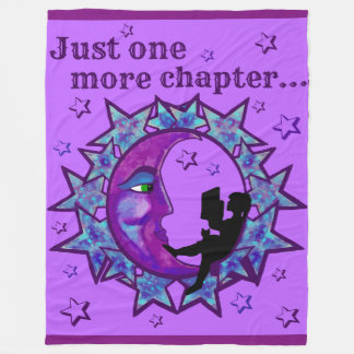Just one more chapter! Blanket for book lovers