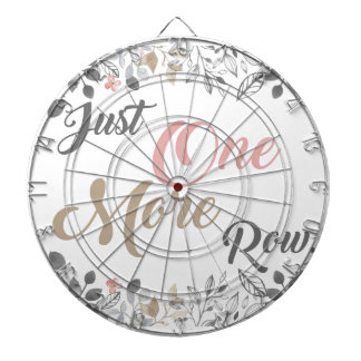 Just One More Row Knitting Art Dartboard