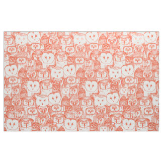 just owls flame orange fabric