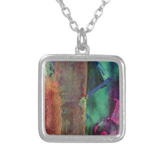 Just Paint Square Pendant Necklace