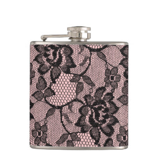 Just Peachy Lace Hip Flask