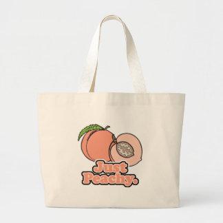 Just Peachy Peach Tote Bags