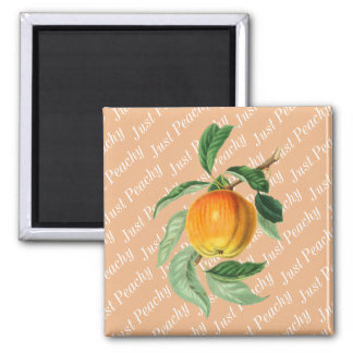 Just Peachy Peach Fruit Magnet