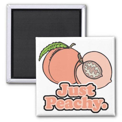 Just Peachy Peach Refrigerator Magnets