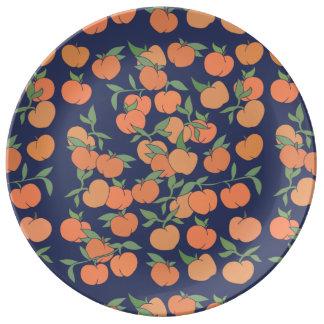 Just Peachy Peaches Porcelain Plate