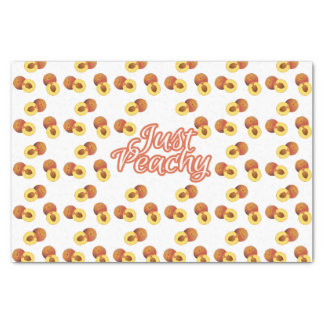 """""""Just Peachy"""" Typography on Peach Pattern Tissue Paper"""