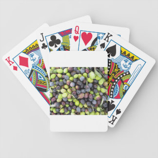 Just picked olives background during harvest time bicycle playing cards