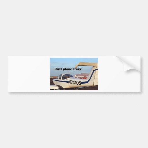 Just plane crazy: aircraft, Page, Arizona, USA 6 Bumper Stickers