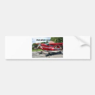 Just plane crazy: skiplane, Talkeetna, Alaska, USA Bumper Sticker