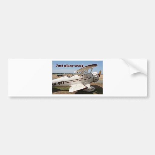 Just plane crazy: Waco biplane aircraft Bumper Stickers