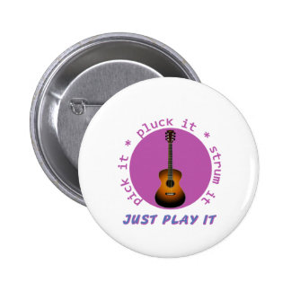 Just Play It Guitar graphic 6 Cm Round Badge