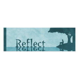 Just Reflect Bookmarks Business Cards