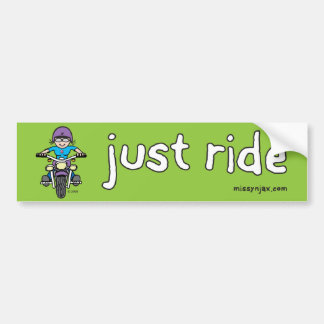 Just Ride Bumper Sticker