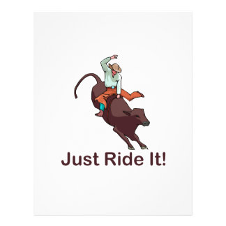 Just Ride It Cowboy and Bull Flyer Design