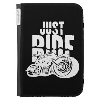 Just Ride Motorcycle Design Kindle Case