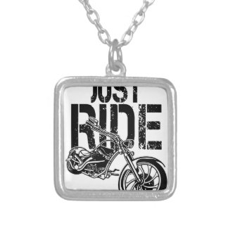 JUST RIDE SILVER PLATED NECKLACE