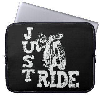 Just Ride Vintage Motorcycles Laptop Computer Sleeve