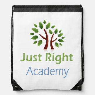 Just Right Academy logo products Drawstring Bag