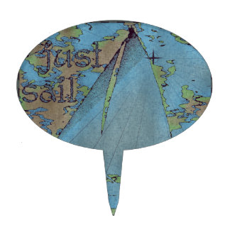 JUST SAIL CAKE TOPPER