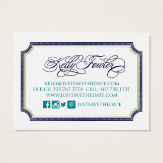 Just Save the Date business card