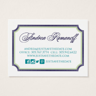 Just Save the Date business card 2
