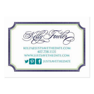 Just Save the Date Kelly Large Business Cards (Pack Of 100)