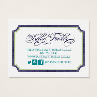 Just Save the Date Kelly Business Card
