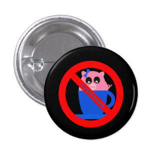 Just Say No Teacup Myth Round Button