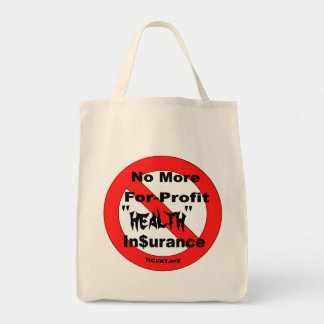 Just Say No Tote Grocery Tote Bag